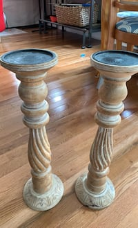 Wooden candlestick holders Halethorpe, 21227