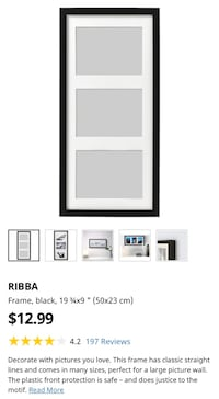 Black Picture Frame | Ikea RIBBA Series