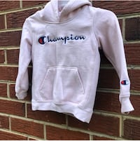 Pink Champion pullover hoodie