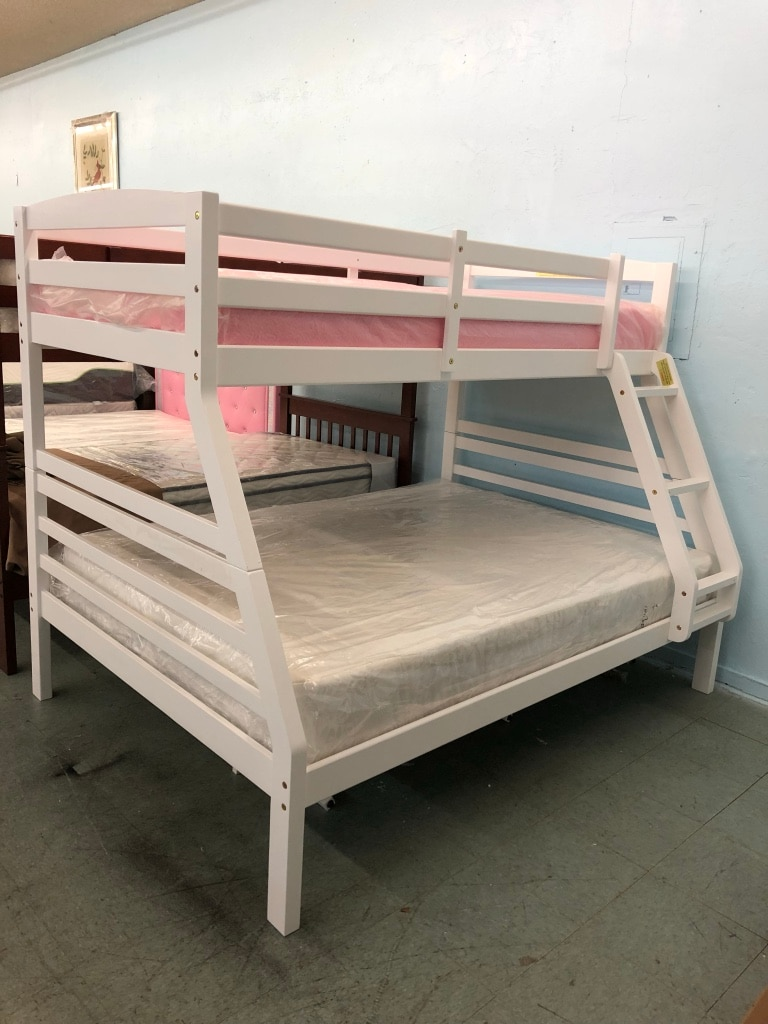 brand new wooden twin over full bunk bed frame 399 no credit rh tr letgo com