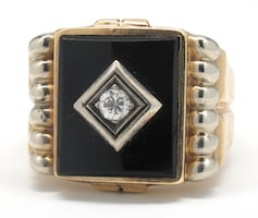 Mens Diamond/Onyx Ring
