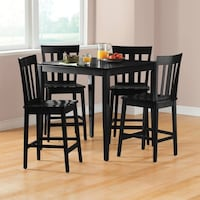 Mainstays 5-Piece Mission Counter-Height Dining Set East Hartford