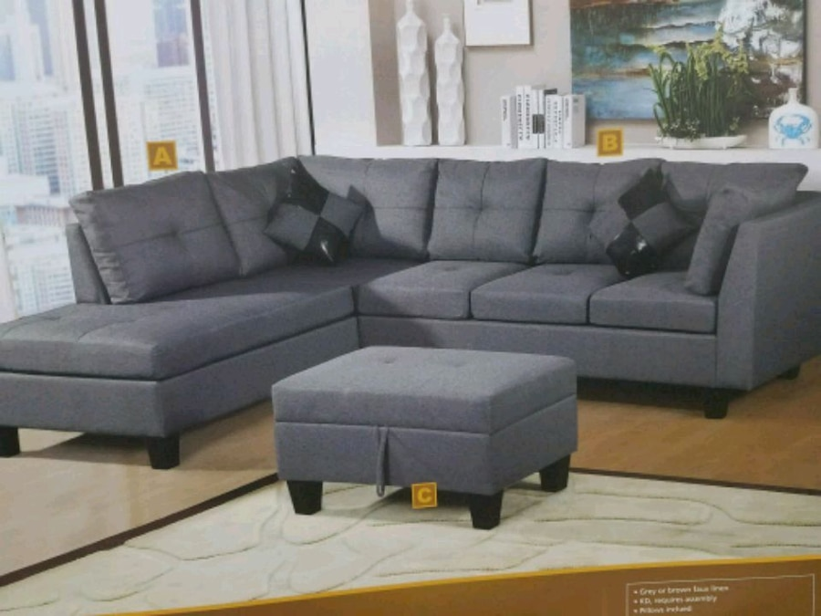 used sectional sofa with the free storage ottoman for sale in haltom rh gb letgo com