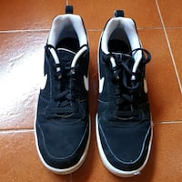 Nike Court Borought Low nero e bianco San Vitale Grande, 40012