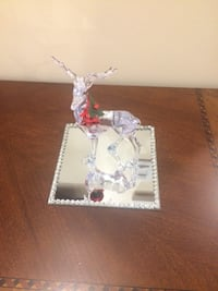 clear glass reindeer figurine