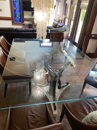 Large Custom glass table and bases