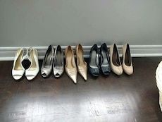 Guess, Aldo's  and Nine west shoes size nine