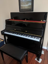 Upright Steigerman Piano and Bench with 28 free piano books!