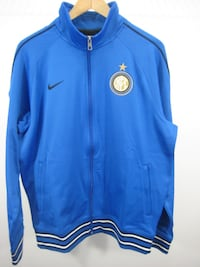 blue Nike zip-up jacket