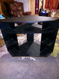 black wooden 3-layer TV stand Port Colborne, L3K 2L9