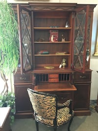 Mahogany China Cabinet and Secretary's Desk London, N5X 2J1