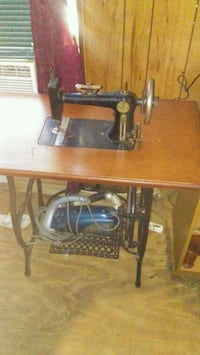 black and brown sewing machine McComb, 39648
