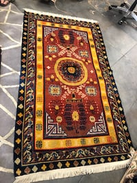 Handmade wool rug around 4x6 ft Toronto, M2R 3N1