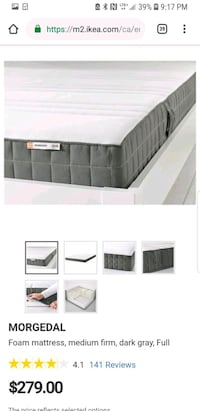 full double size matress with cover protector  Toronto, M5J
