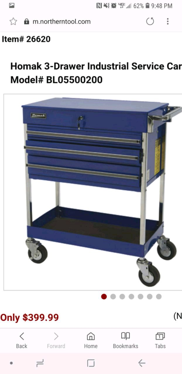 used homak 3 drawer service cart for sale in huntersville letgo rh us letgo com