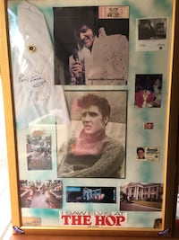 Elvis Autographed scarf, and autographed by girlfriend, Linda Thompson Henderson, 89052