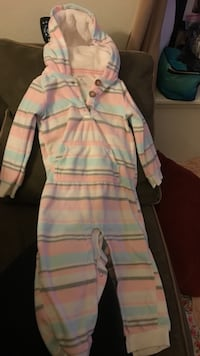 Baby girl Carters 18 months Warm jumpsuit
