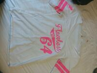 Flawless pink and white shirt. Size large