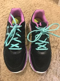 Under Armour black, blue, purple, & white running shoes Calgary, T2J 1Y9