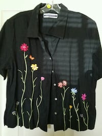 Embroidered linen blouse  Arlington, 22203
