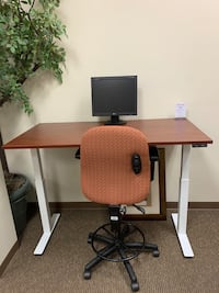 Cherry Sit-Stand Office Chair