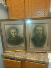 Vintage photos. Picture in frame 10 by 14