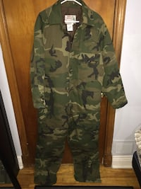 Hunting coveralls camouflage jacket