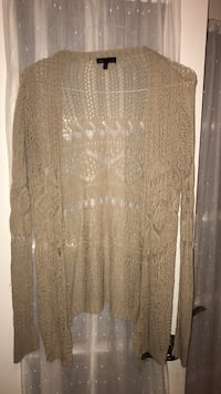 light brown cardigan; one size