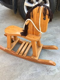 Brown and black wooden horse rocking chair West Covina, 91790