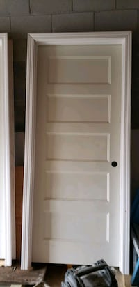 "Two 5 panel solid core interior doors 32"" lefthand and 28"" righthand"