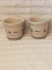 Set of 2 Longaberger Pottery Votive Holders—Heritage Green—Like New Vienna, 22180