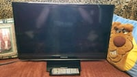"""24"""" black flat screen TV like new with remote Romulus, 48174"""