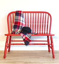 Farmhouse Country Entry Bench Red
