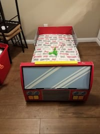 red and white fire truck toddler bed Ontario, 91761