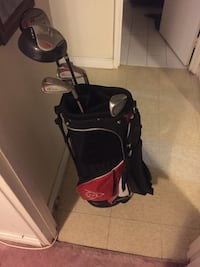 black and red dunlop golf bag with golf club set Dundas, L9H 0B7