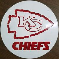 Laser Cut Record with the Chiefs logo 2055 mi
