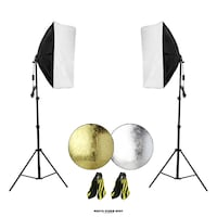 Photo Video Softbox Lighting Kit + 8 In 1 Reflector + Two Sand Bags / photovideospot.ca Toronto