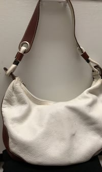 White leather bag with brown trim Alexandria, 22304