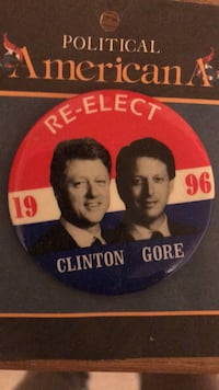 Brand New 1996 Clinton/Gore Campaign Pin  Arlington, 22204