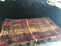 Black wood daybed with trundle and 1 mattress