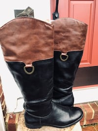 Chocolate/Black Leather Boots Size 8 Gainesville, 20155