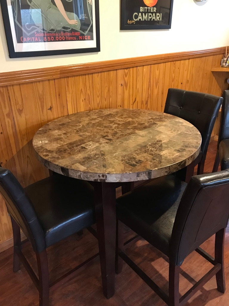 used cherry pub table and 4 chairs for sale in fort worth letgo rh gb letgo com