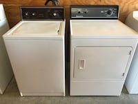 Great running apartment size washer and dryer- clean, 30 day warranty