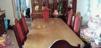 Beautiful, antique, solid wood dining set