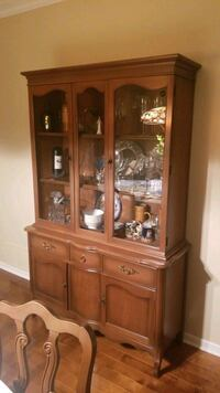 brown wooden china cabinet with cabinet Terrebonne, J6W 0B6
