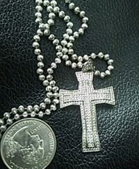 """Sterling silver 925 cross+22""""chain Riverview, 33569"""