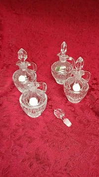 Lead crystal decanters with lid set of 4 Perris, 92570
