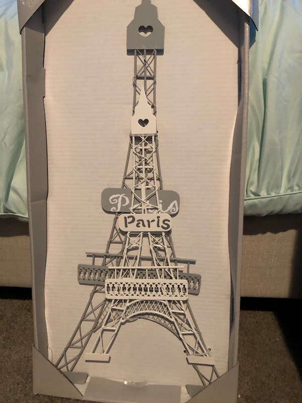 Paris collection metal wall decor two eiffel towers