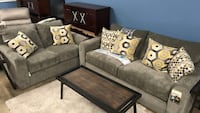 black and brown wooden coffee table