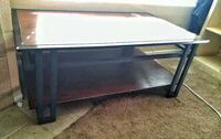 Real wood and metal coffee table